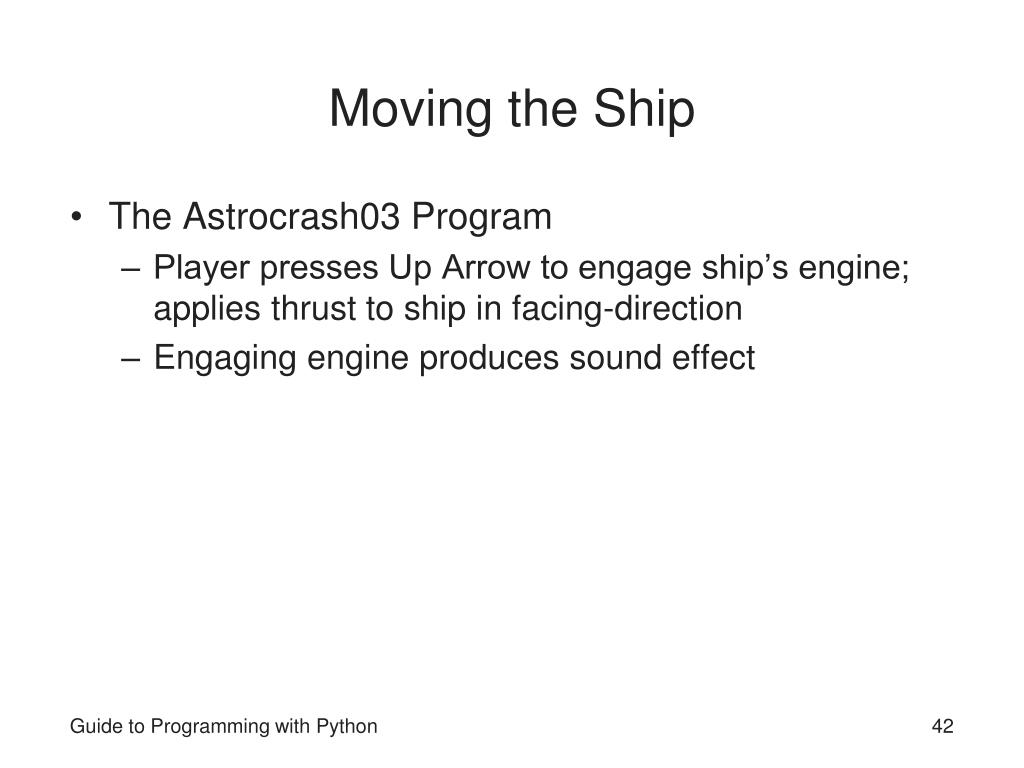 Moving the Ship