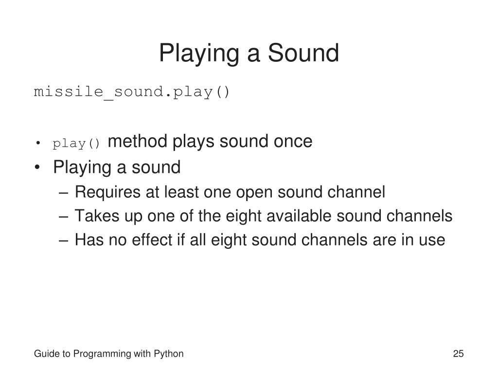 Playing a Sound
