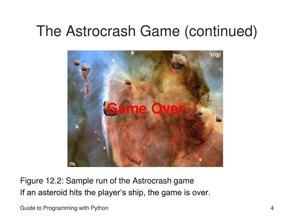The Astrocrash Game (continued)