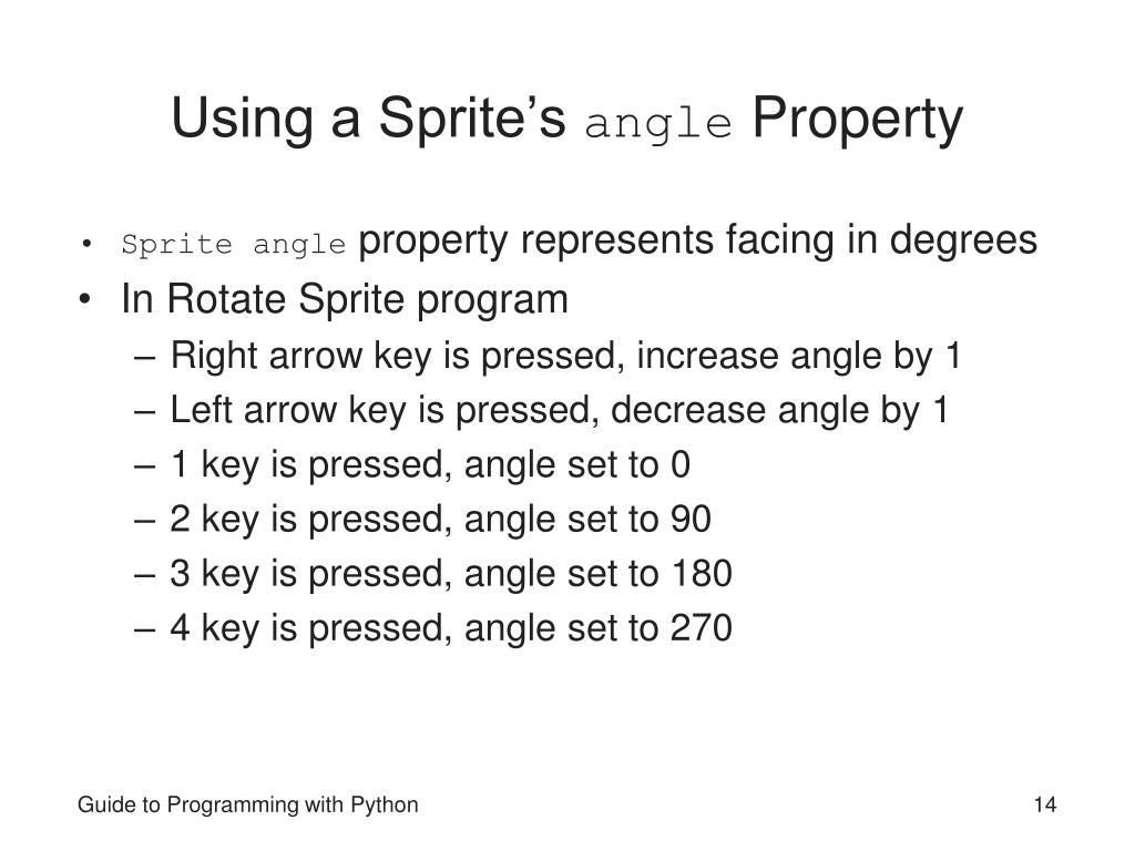 Using a Sprite's