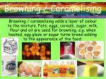 browning caramelising
