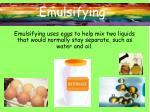 emulsifying