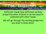 food properties2
