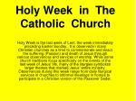 holy week in the catholic church