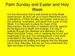 palm sunday and easter and holy week