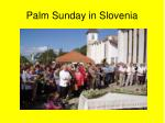 palm sunday in slovenia