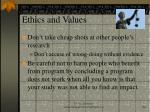 ethics and values42