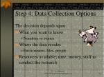 step 4 data collection options