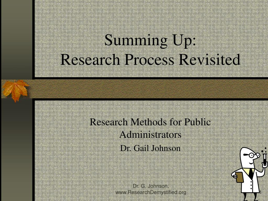 summing up research process revisited l.