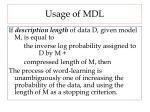 usage of mdl
