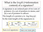 what is the length information content of a signature