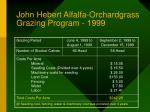 john hebert alfalfa orchardgrass grazing program 1999