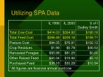 utilizing spa data