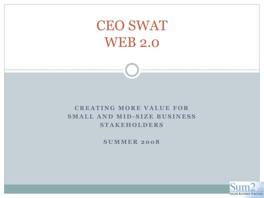 ceo swat web 2 0 l.