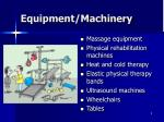 equipment machinery