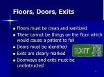 floors doors exits