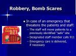 robbery bomb scares