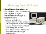 measuring bacterial growth43