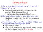 sharing of pages