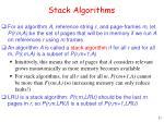 stack algorithms