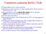 translation lookaside buffer tlb
