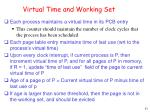 virtual time and working set