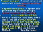 a speech must grow a speech can grow and explore with enough spaced rehearsal and rewriting