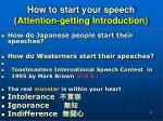 how to start your speech attention getting introduction