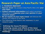research paper on asia pacific war