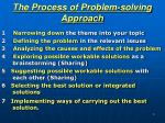 the process of problem solving approach