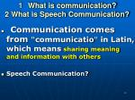 what is communication 2 what is speech communication