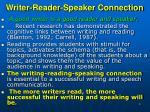 writer reader speaker connection