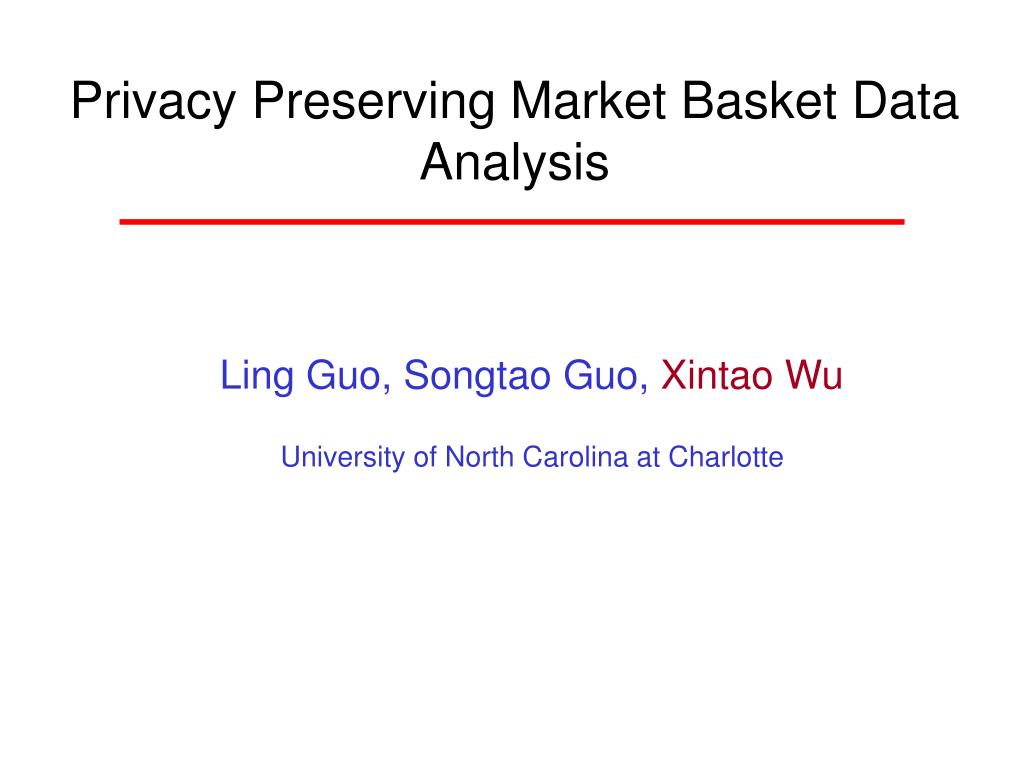 privacy preserving market basket data analysis l.
