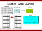 existing tools example