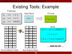 existing tools example10