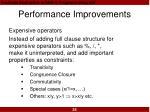 performance improvements26