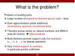 what is the problem