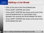 adding a line break