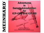adventures in sample introduction for icp oes and icp ms