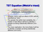 tst equation welch s t test17