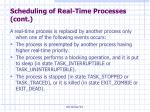scheduling of real time processes cont