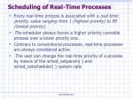 scheduling of real time processes