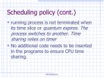 scheduling policy cont5