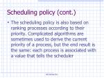 scheduling policy cont6