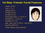 1st step friends facial features