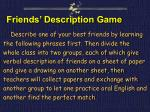 friends description game