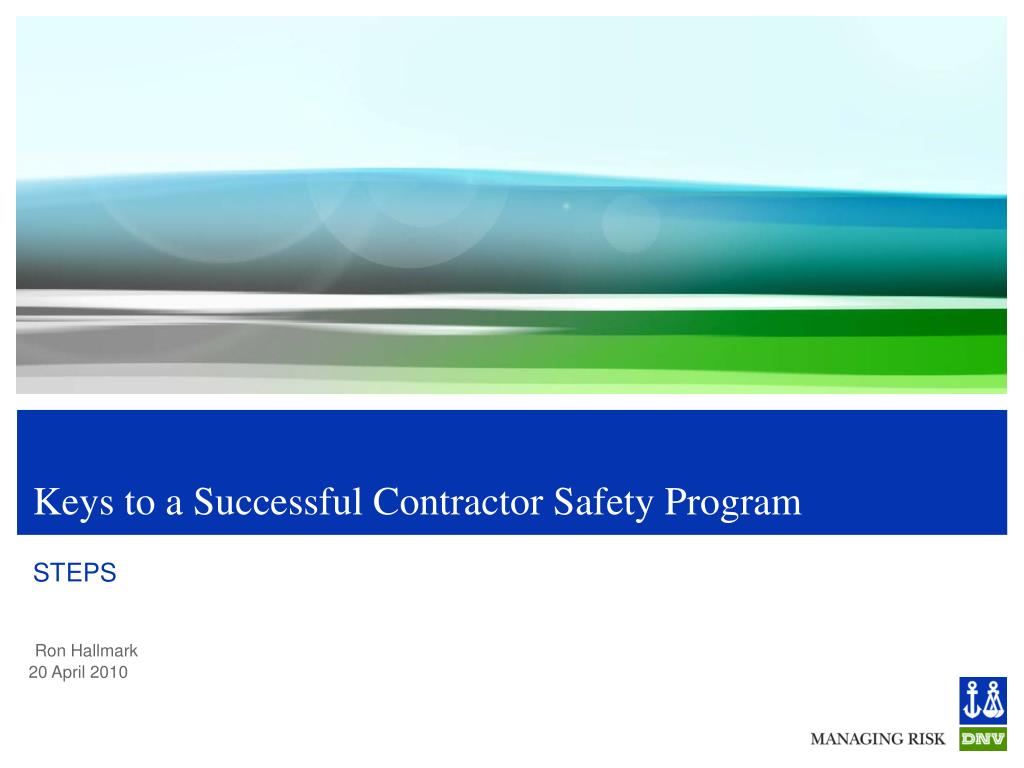 keys to a successful contractor safety program l.