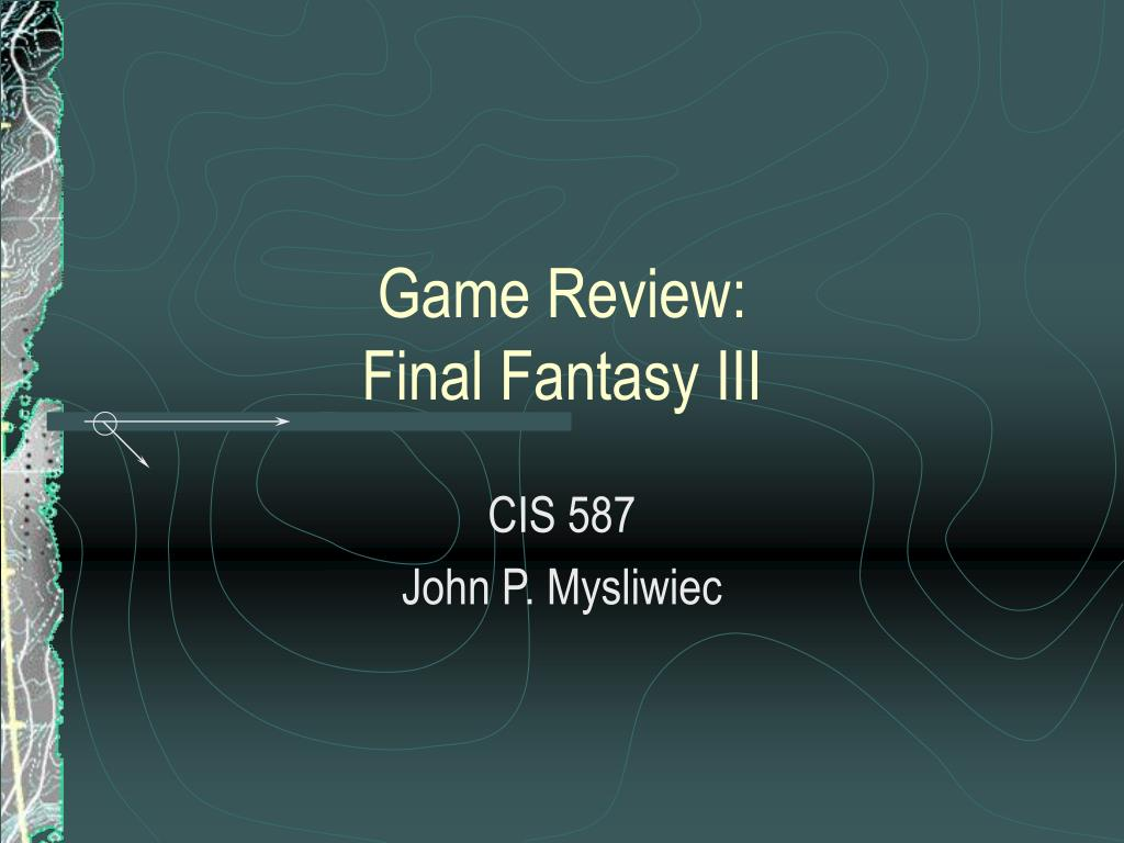 game review final fantasy iii l.