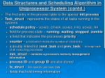 data structures and scheduling algorithm in uniprocessor system contd