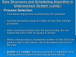 data structures and scheduling algorithm in uniprocessor system contd10